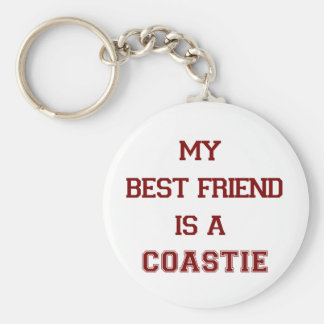 My Best Friend Is A Coastie New Keychain
