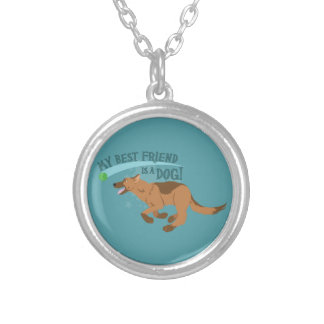 My Best Friend Is A Dog Silver Plated Necklace
