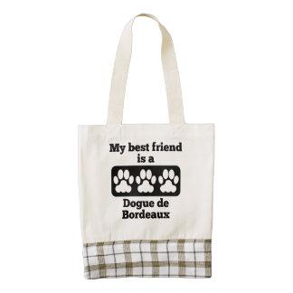 My Best Friend Is A Dogue de Bordeaux Zazzle HEART Tote Bag