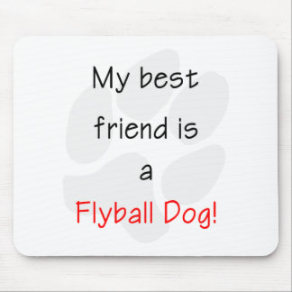 My Best Friend is a Flyball Dog Mouse Pad