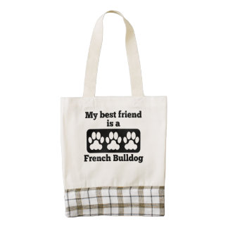 My Best Friend Is A French Bulldog Zazzle HEART Tote Bag