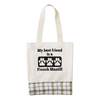 My Best Friend Is A French Mastiff Zazzle HEART Tote Bag