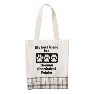 My Best Friend Is A German Shorthaired Pointer Zazzle HEART Tote Bag