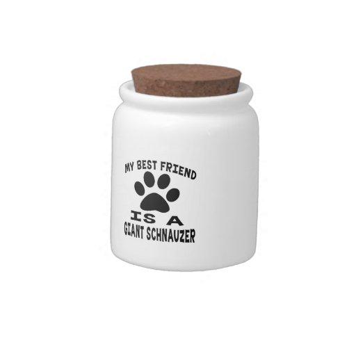 My Best Friend Is A Giant Schnauzer Candy Jar