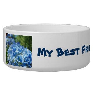 My Best Friend is a Great Nurse! dog bowl Blue