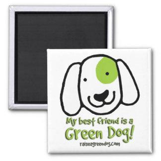 My best friend is a Green Dog! Magnet