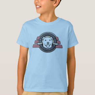 My Best Friend is a Pit Bull Emblem - Kid's Blue T-Shirt