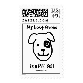 My best friend is a pit bull postage stamp