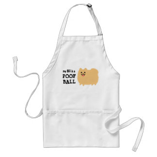 My Best Friend is a POOF BALL - Cute Pomeranian Adult Apron