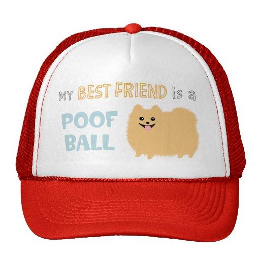 My Best Friend is a POOF BALL - Cute Pomeranian Trucker Hat