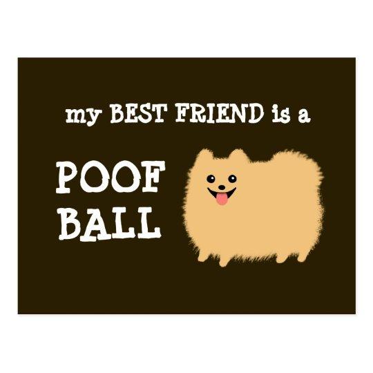 My Best Friend is a Poof Ball - Funny Pom Cartoon Postcard