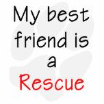 My Best Friend is a Rescue Dog Photo Cut Out