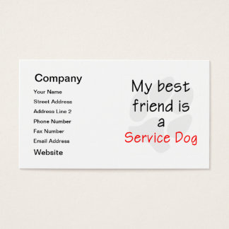 My Best Friend is a Service Dog Business Card