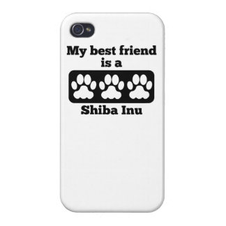 My Best Friend Is A Shiba Inu Cover For iPhone 4