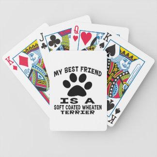 My Best Friend Is A Soft Coated Wheaten Terrier Poker Cards