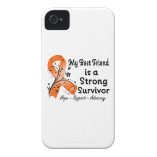 My Best Friend is a Strong Survivor Orange Ribbon iPhone 4 Case-Mate Cases