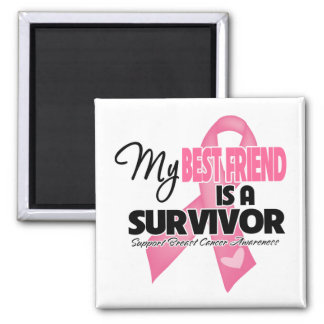 My Best Friend is a Survivor - Breast Cancer Magnets