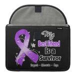My Best Friend is a Survivor Purple Ribbon Sleeves For MacBook Pro