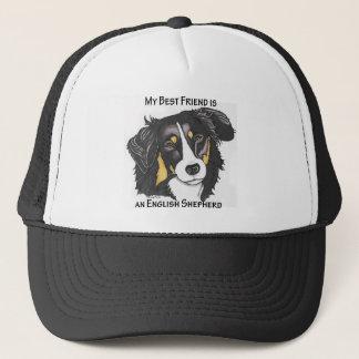 My Best Friend is a Tri-color English Shepherd Trucker Hat
