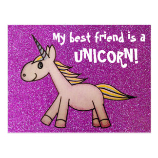 My Best Friend is a Unicorn Postcard
