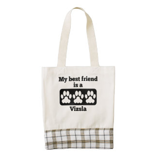 My Best Friend Is A Vizsla Zazzle HEART Tote Bag