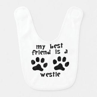 My Best Friend Is A Westie Bibs