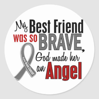My Best Friend Is An Angel 1 Brain Cancer Stickers