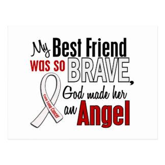 My Best Friend Is An Angel Lung Cancer Postcard