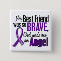 My Best Friend Is An Angel Pancreatic Cancer Button