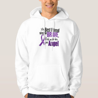 My Best Friend Is An Angel Pancreatic Cancer Hoodie