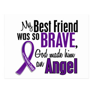 My Best Friend Is An Angel Pancreatic Cancer Postcard