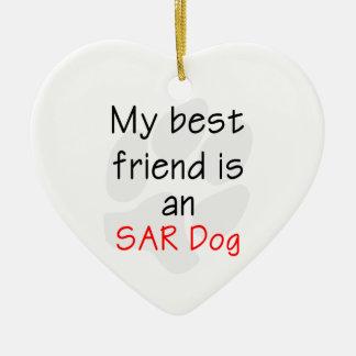 My Best Friend is an SAR Dog Ceramic Ornament