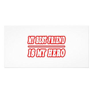 My Best Friend Is My Hero Card