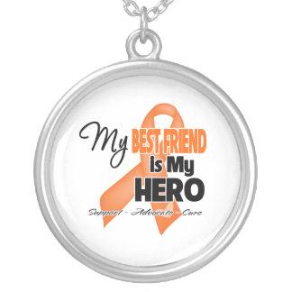 My Best Friend is My Hero - Leukemia Round Pendant Necklace