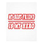 My Best Friend Is My Hero Personalized Letterhead