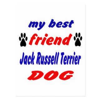 My best friend Jack Russell Terrier Dog Postcard