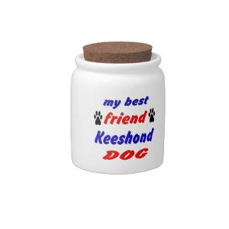 My best friend Keeshond Dog Candy Jar