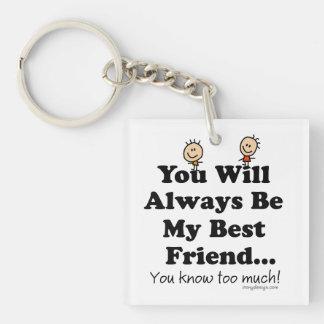 My Best Friend Key Chain