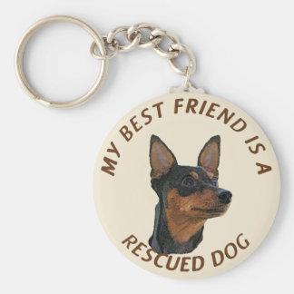 My Best Friend (Miniature Pinscher) Keychain