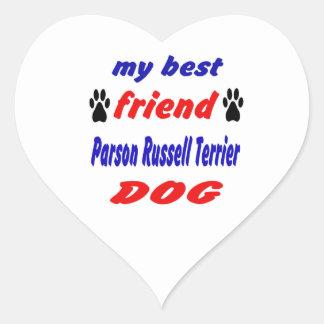 My best friend Parson Russell Terrier Dog Heart Sticker
