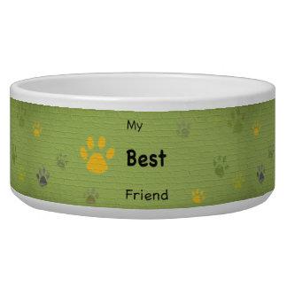 My Best Friend Paw Print Graffiti Pet Bowls