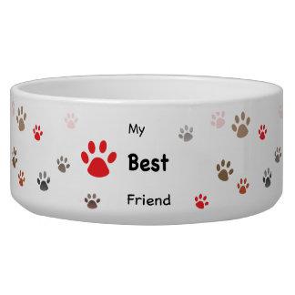 My Best Friend Paw Prints Dog Food Bowls