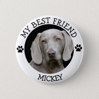 My Best Friend, Pawprints Dog Pet  Photo Button