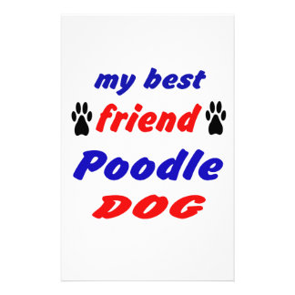 My best friend Poodle Dog Stationery