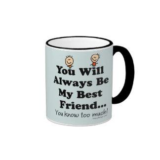My Best Friend Ringer Coffee Mug
