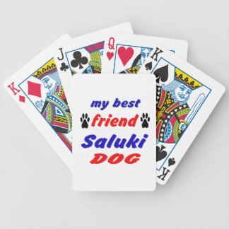 My best friend Saluki Dog Bicycle Playing Cards