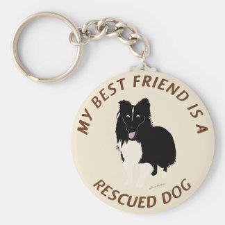 My Best Friend (Shetland Sheepdog) Basic Round Button Keychain