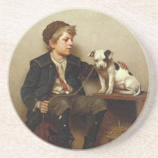 My Best Friend, Shoe Shine Boy & Puppy Dog Beverage Coasters