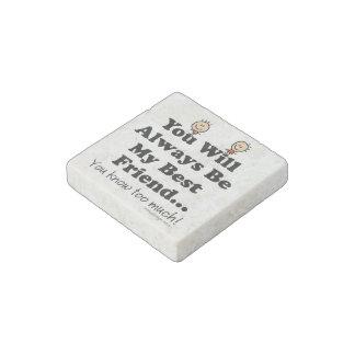 My Best Friend Stone Magnet