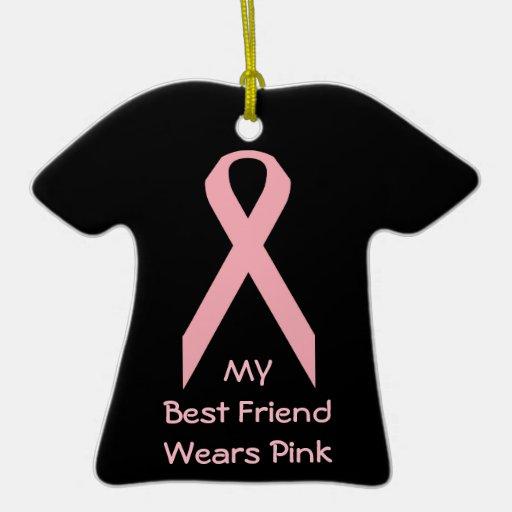My Best Friend Wears Pink Christmas Ornament